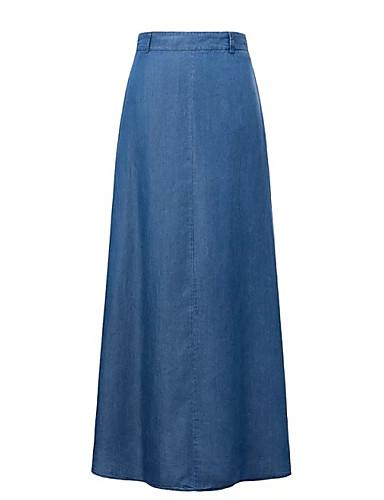 Žene Olovka Izlasci Maxi Suknje - Jednobojni Visoki struk