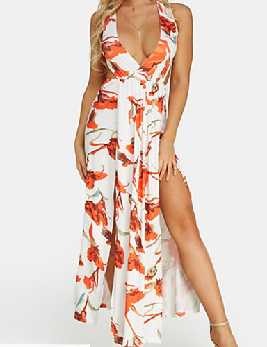 Žene Izlasci Korice Haljina V izrez Maxi