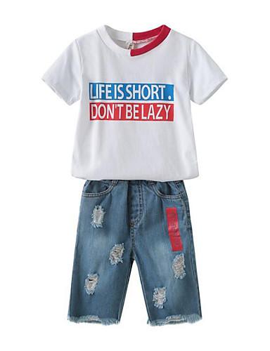 Djeca Dječaci Print / Kolaž Kratkih rukava Komplet odjeće