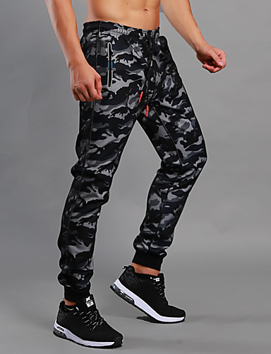 11b59fbd20 Men's Pocket Jogger Pants Running Pants Sports Camo / Camouflage Pants /  Trousers Bottoms Fitness Gym Workout Workout Activewear Thermal / Warm  Windproof ...