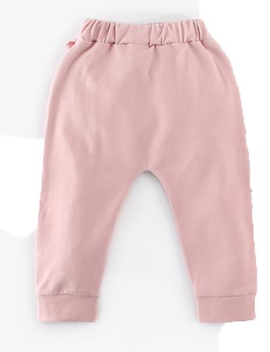 Bambino Da Ragazza Essenziale Quotidiano Collage Collage Cotone Pantaloni Rosa #06849471 Rendere Le Cose Convenienti Per Le Persone