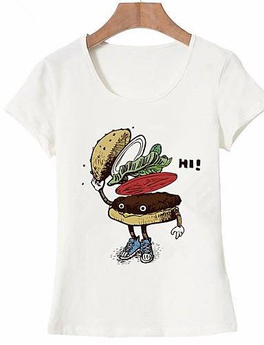 Mujer Básico Estampado Camiseta Geométrico 6882352 2019 524