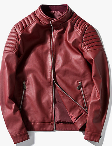 0d688a31700 Men s Daily Street chic Regular Leather Jacket