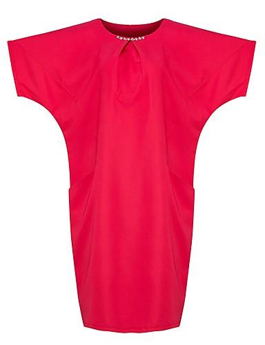 ab7d6c3452d0 Γυναικεία Μεγάλα Μεγέθη Εξόδου Βασικό   Κομψό Μανίκι Νυχτερίδα Υπερμεγέθη  Σε γραμμή Α Φόρεμα - Μονόχρωμο
