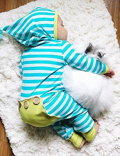 Bambino Da Ragazzo Attivo - Essenziale Quotidiano A Strisce Righe Manica Lunga Cotone Intero Blu #06891194 Con Il Miglior Servizio