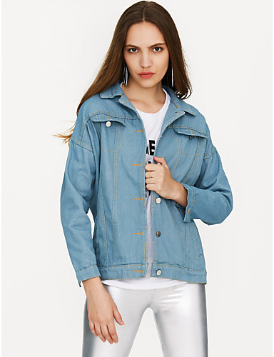 Alkalmi Állógallér Női Traper jakne - Egyszínű