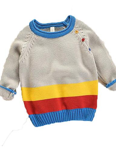 Costante Bambino (1-4 Anni) Da Ragazzo Essenziale Tinta Unita Manica Lunga Poliestere Maglione E Cardigan Blu Marino #06844108