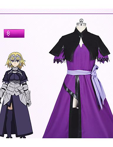voordelige Cosplay & Kostuums-geinspireerd door Fate / zero Jeanne d'Arc Anime Cosplaykostuums Cosplay Kostuums Eenvoudig Kleding / Shawl / Sokken Voor Dames