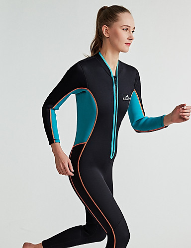 ff12663cec Women s Full Wetsuit 3mm SCR Neoprene Diving Suit Long Sleeve Front Zip  Solid Colored Autumn   Fall Spring Summer   Winter   Micro-elastic
