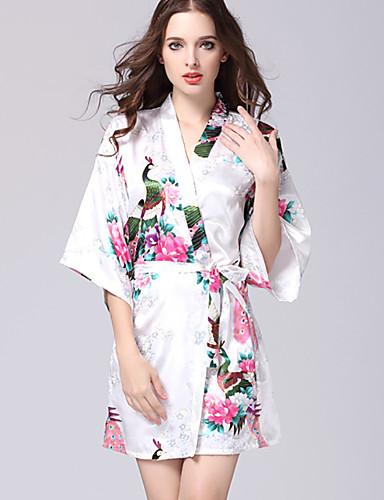 abordables Lingerie-Rayon / polyester Robes de Chambre Mariage Non personnalisé Motif / Impression