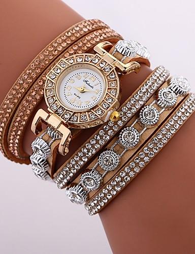 9cadfb672 Women's Bracelet Watch Diamond Watch Quartz Quilted PU Leather Black /  White / Blue New Design Casual Watch Imitation Diamond Analog Ladies Casual  Fashion ...