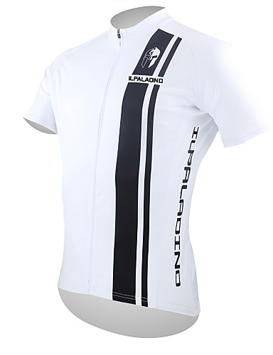 cheap Cycling Clothing-ILPALADINO Men's Short Sleeve Cycling Jersey - Black / White Bike Jersey Top Breathable Quick Dry Ultraviolet Resistant Sports Polyester 100% Polyester Mountain Bike MTB Road Bike Cycling Clothing