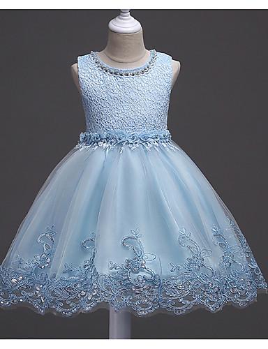 Kinder Mädchen Süß Solide Kurzarm Kleid Weiß