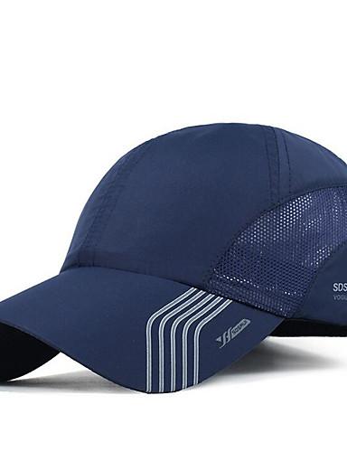 Miesten Perus Pesäpallolippis-Raidoitettu Polyesteri Tumman harmaa Laivaston sininen Vaaleanharmaa