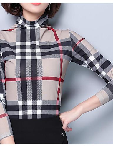 Acquista A Buon Mercato T-shirt Per Donna Per Uscire Monocolore A Collo Alto Cachi Xl - Taglia Piccola #06912657 Vendite Economiche