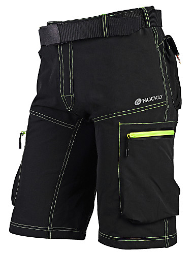 cheap Cycling Clothing-Nuckily Men's Cycling MTB Shorts Bike Baggy Shorts MTB Shorts Pants Breathable Quick Dry Anatomic Design Sports Solid Color Polyester Dark Grey / Army Green Mountain Bike MTB Road Bike Cycling