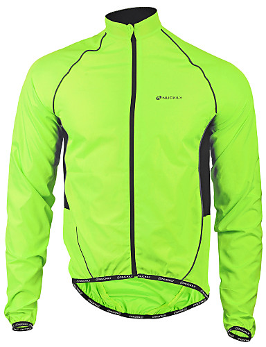 cheap Cycling Clothing-Nuckily Men's Cycling Jacket Bike Jacket Windbreaker Raincoat Waterproof Windproof Breathable Sports Polyester Winter Green Mountain Bike MTB Road Bike Cycling Clothing Apparel Advanced Relaxed Fit