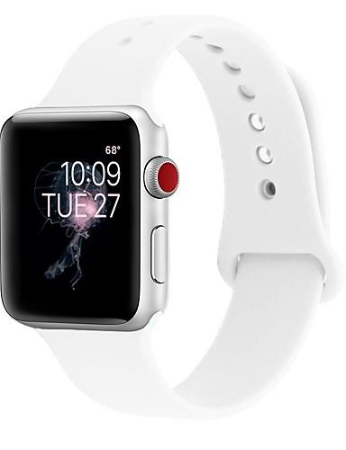 Silika Jel Watch Band kayış için Apple Watch Series 3 / 2 / 1 Siyah / Beyaz / Mavi 23cm / 9 inç 2.1cm / 0.83 İnç