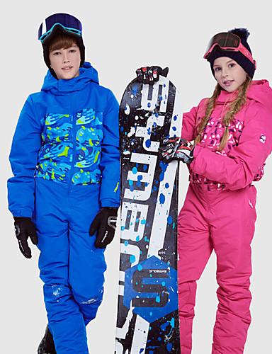 저렴한 스키 & 스노보드-Phibee 남아 여아 스키 수트 방수 보온 방풍 스키 야외운동 프리스타일 스노우보드 폴리에스테르 스패이스 카튼 겨울 자켓 웜 팬츠 스키 의류