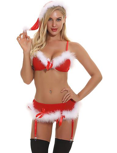 voordelige Kerstwinkel-Dames Kerstmis Rokken - Geometrisch Blote rug Rood L XL XXL / Kostuum / Super Sexy