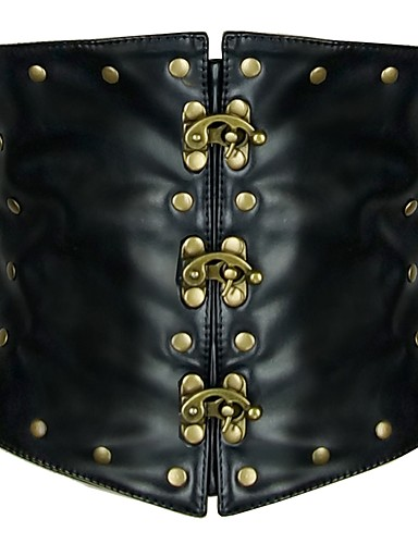 a5547fcde66 Στολές Ηρώων Steampunk Στολές Γυναικεία Κορσές Με Καρφιά Μαύρο Πεπαλαιωμένο  Cosplay