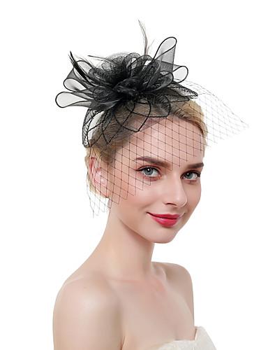 abordables Accessoires Femme-Femme Kentucky Derby Rétro Vintage Elégant Bijoux de Cheveux-Couleur Pleine / Mariage / Lin / Maille / Toutes les Saisons