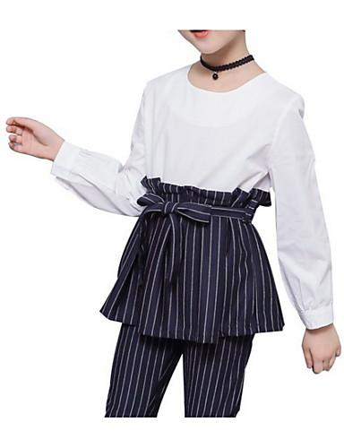Djeca Djevojčice Aktivan Dnevno Jednobojni Prugasti uzorak Dugih rukava Regularna Normalne dužine Komplet odjeće Obala