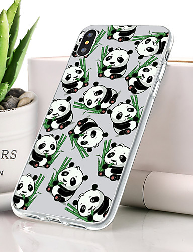 Θήκη Za Apple iPhone XS Protiv prašine / Ultra tanko / Uzorak Stražnja maska Životinja / Panda Mekano TPU