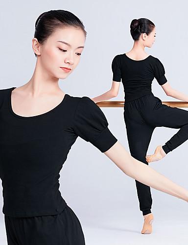 acab642285a5 Danza classica Top Per donna Addestramento   Prestazioni Elastene   Licra  Elastico Manica corta Top