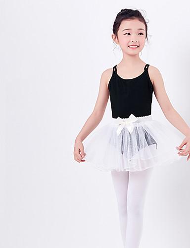 preiswerte Ballettbekleidung-Ballett Austattungen Mädchen Training / Leistung Elastan / Lycra Spitze / Nierenwärmer / Bänder Ärmellos Röcke / Gymnastikanzug / Einteiler