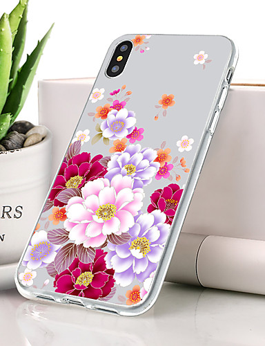 Θήκη Za Apple iPhone XS Protiv prašine / Ultra tanko / Uzorak Stražnja maska Cvijet Mekano TPU
