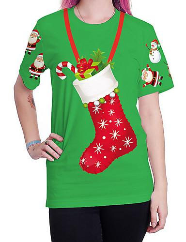 voordelige Kerstwinkel-Dames Street chic T-shirt Cartoon Klaver