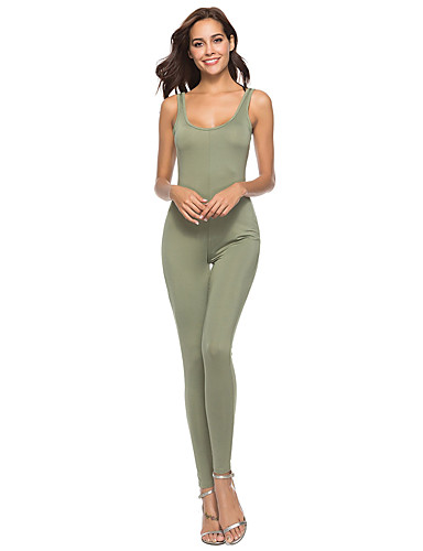 d69c8d9cfd9b Women s Daily Street chic Black Wine Army Green Pencil Jumpsuit