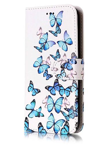 Θήκη Za Samsung Galaxy J7 (2016) / J7 / J5 (2017) Novčanik / Utor za kartice / sa stalkom Korice Rukav leptir Tvrdo PU koža