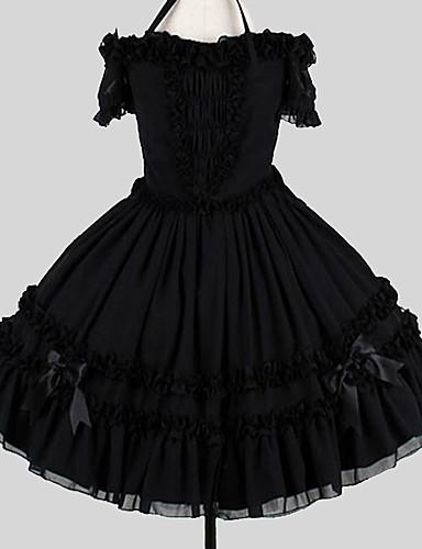 ec538c29ec Sweet Lolita Dress Elegant Women s Dress Cosplay Black Ball Gown Butterfly  Sleeve Short Sleeve Knee Length Plus Size Customized Costumes