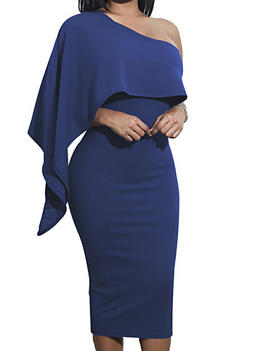 e51164fbbe4 Women's Party Daily Elegant Slim Bodycon Dress - Solid Colored High Waist  Strapless Wine Army Green Royal Blue M L XL / Sexy
