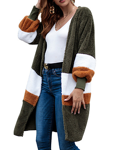 5d4a5713bd01 Χαμηλού Κόστους Γυναικεία Παλτό  amp  Καμπαρντίνες-Γυναικεία Καθημερινά  Φθινόπωρο  amp  Χειμώνας Μακρύ Παλτό