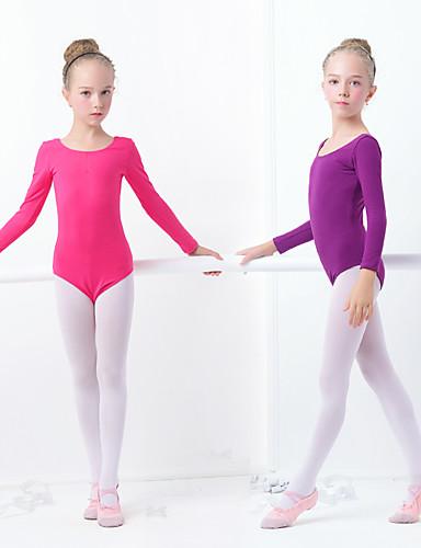 povoljno Odjeća za balet-Balet Leotards Djevojčice Trening / Seksi blagdanski kostimi Elastan / Likra Elastika Dugih rukava Hula-hopke / Onesie