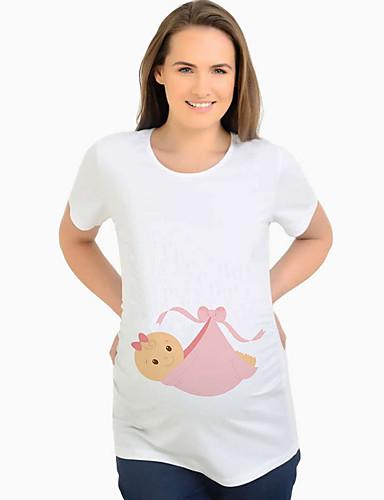 Majčinski Majica s rukavima Žene - Osnovni Dnevno Jednobojni Obala