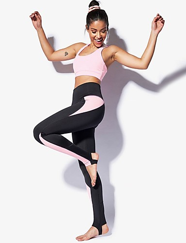 145828d147549 Women's Patchwork Tracksuit Yoga Suit Sports Solid Color High Rise Tights  Crop Top Clothing Suit Zumba Yoga Fitness Activewear Breathable Compression  Butt ...