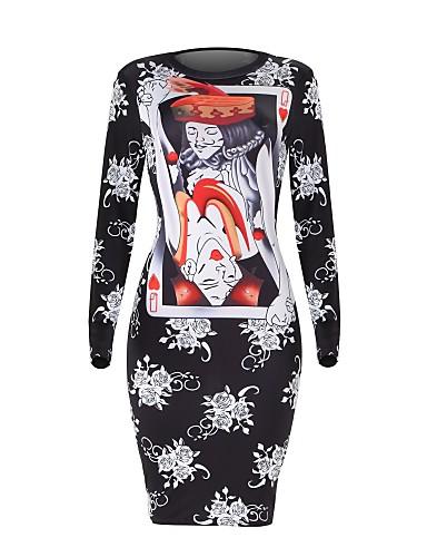 abordables Robes Femme-Femme Vacances Sortie Elégant Mi-long Slim Tricot Robe - Dos Nu Noeud Mosaïque Printemps Automne Noir Rouge Violet M L XL Manches Longues