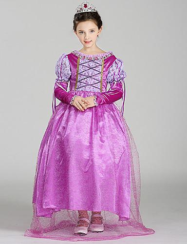 3ad2363ac555 Belle Cosplay Kostymer / Dräkter Barn Flickor Klänningar Jul Halloween  Karnival Festival / högtid Tyll Cotton Purpur Karnival Kostymer Prinsessa