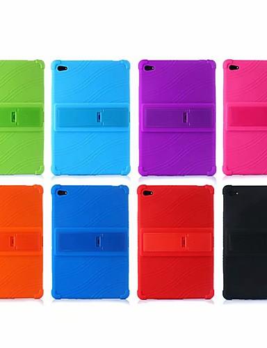 Etui Til Huawei Huawei Mediapad T5 10 / Huawei Mediapad M5 Lite 10 / MediaPad M5 10 (Pro) Stødsikker / Med stativ Bagcover Ensfarvet Blødt Silikone