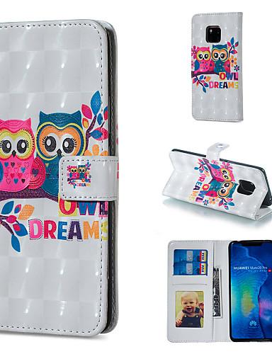 Θήκη Za Huawei Huawei Honor 10 / Huawei Honor 8X / Honor 7A Novčanik / Utor za kartice / sa stalkom Korice Sova Tvrdo PU koža
