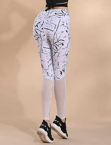 Femme Mosaïque Collants de Course Running Blanc Noir Des sports Imprimé  Collants Yoga Fitness Entraînement de gym Tenues de Sport Respirable  Séchage rapide ... 92e7b89dec9