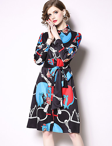 b8ec6114ab7 Sheath   Column Square Neck Knee Length Jersey Vintage Inspired Cocktail  Party Dress with Pattern   Print by LAN TING Express 7107067 2019 –  49.99