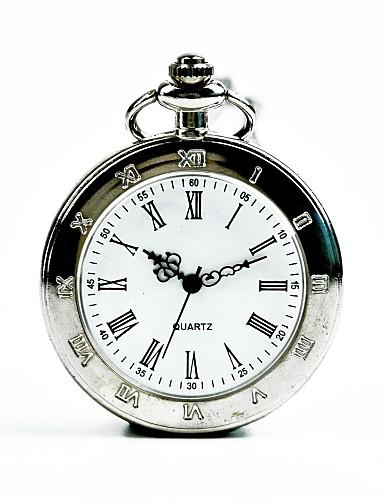 Муж. Карманные часы Кварцевый Серебристый металл Повседневные часы Cool Аналоговый На каждый день Мода - Серебряный