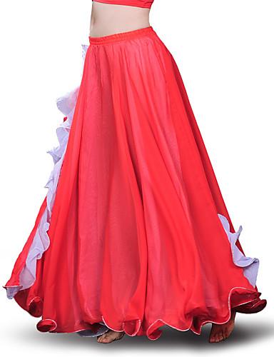 halpa Etniset & Cultural Puvut-Espanjan nainen Hameet Aikuisten Naisten Flamenco Halloween Karnevaali Masquerade Festivaali / loma Polyesteria Vihreä / Fuksia / Musteensininen Nainen Karnevaalipuvut Patchwork