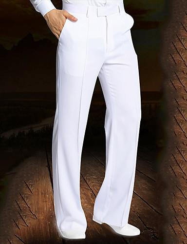 cheap New Arrivals-Latin Dance Bottoms Men's Performance Spandex Ruching Natural Pants