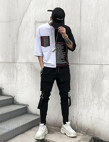 cheap Men's Pants & Shorts-Men's Street chic Harem / Cargo Pants - Solid Colored Black